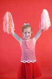 Het meisjesverticaal van Cheerleader Stock Fotografie