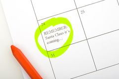 Het memorandum van de kalender Stock Foto