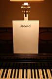 Het memorandum van de piano Stock Foto