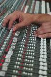 Het mengen van audiosporen Stock Afbeeldingen