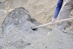 Het mengen van beton Stock Afbeeldingen