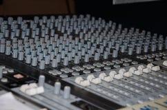 Het mengen van console Stock Foto