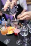 Het mengen van dranken Stock Fotografie
