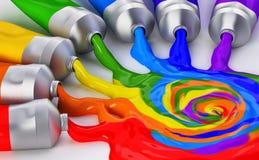 Het mengen van kleuren Royalty-vrije Stock Afbeeldingen
