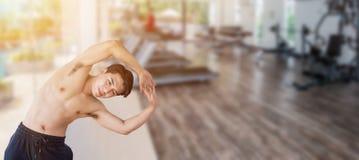 Het mening-lichaam verbeteringen Geschikt en vast lichaam na oefening en sport royalty-vrije stock foto's
