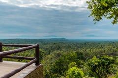 Het meningspunt van landschap bij het Nationale Park van Pha Chor, Chiang Mai, Thailand stock foto's