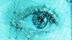 Het menselijke aftasten van gezichts biometrische gegevens royalty-vrije stock foto's