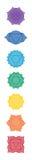 Het Menselijke Chakra-Systeem royalty-vrije illustratie