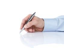 Het menselijke hand schrijven royalty-vrije stock afbeelding