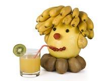 Het menselijke hoofd van fruit. Royalty-vrije Stock Foto's