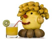 Het menselijke hoofd van fruit. Stock Fotografie