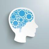 Het menselijke Hoofdtoestel rijdt Hersenen Stock Afbeeldingen