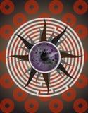 Het menselijke oog in labyrint 1 Stock Fotografie