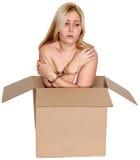 Het menselijke Slachtoffer van het Geslachts Handel drijvende Misbruik Stock Foto