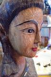 Het menselijke Standbeeld van het Boeddhismeboedha van de Gezichtswinkel, Art And Craft, antropomorfe het gezichts menselijke mann stock foto