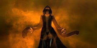 Het menselijke wijfje van de tovenaar Royalty-vrije Stock Afbeelding