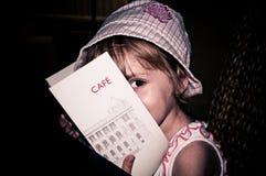 Het menu stock foto's
