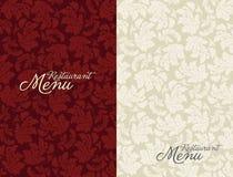 Het menu tempale ontwerp van het restaurant Royalty-vrije Stock Afbeeldingen