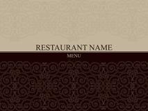 Het menu tempale ontwerp van het restaurant Stock Foto