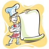 Het Menu van de chef-kok Stock Afbeeldingen