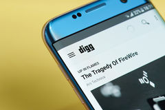 Het menu van de Diggtoepassing Royalty-vrije Stock Afbeelding