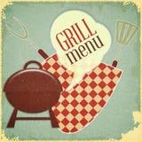 Het Menu van de grill Royalty-vrije Stock Afbeeldingen