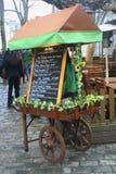 Het menu van de kar Stock Foto