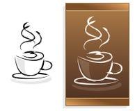 Het menu van de koffie met abstract embleem Stock Fotografie