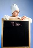 Het menu van de lunch stock foto's