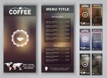 Het menu van de ontwerpkoffie met vage achtergrond Stock Foto