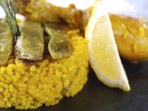 Het Menu van de paella in een Restaurant Royalty-vrije Stock Foto