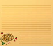 Het menu van de pizza Royalty-vrije Stock Foto's
