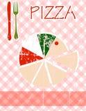 Het menu van de pizza Stock Afbeelding