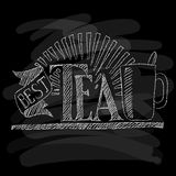 Het menu van de thee Krijt op een bord Vector illustratie Royalty-vrije Stock Foto's