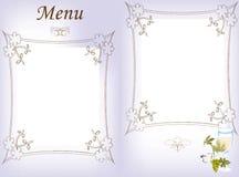 Het menu van de wijn Stock Afbeeldingen
