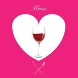 Het menu van de wijn op roze Stock Foto's