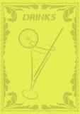 Het menu van dranken Stock Afbeeldingen