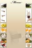 Het menu van het dessert. Stock Foto