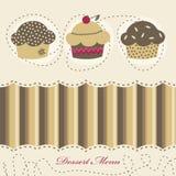 Het menu van het dessert Stock Foto