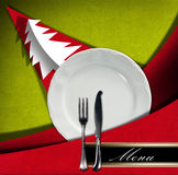 Het Menu van het Kerstmisrestaurant Royalty-vrije Stock Foto