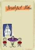 Het menu van het ontbijt Stock Afbeelding