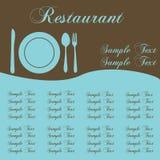 Het Menu van het restaurant Stock Foto's