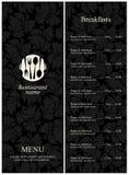 Het menu van het restaurant Stock Afbeeldingen
