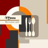 Het menu van het restaurant vector illustratie