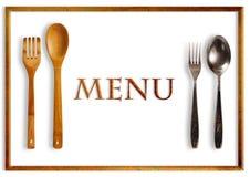 Het menu van het restaurant stock foto