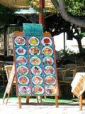 Het Menu van het Restaurant van de straat royalty-vrije stock afbeeldingen