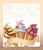 Het menu van het roomijs stock illustratie