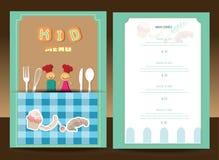 Het menu van jonge geitjes Stock Foto's