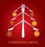Het menu van Kerstmis. Stock Afbeelding