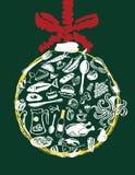 Het menu van Kerstmis Stock Afbeeldingen
